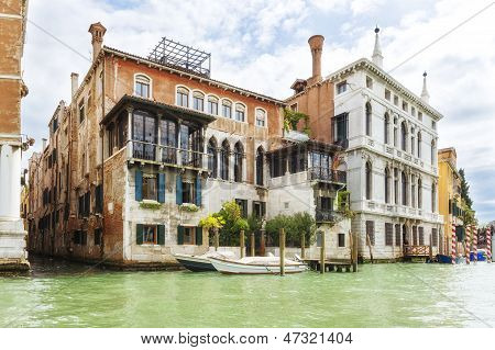 Summer Shot Of Houses Near Grand Canal, Venice