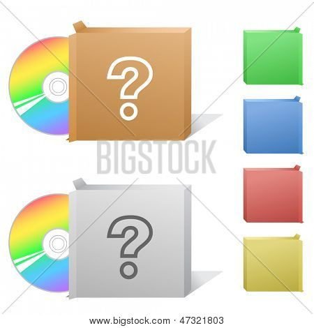 Query. Box with compact disc.