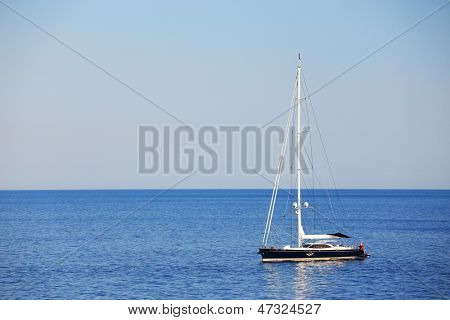 Sailing boat on the ocean