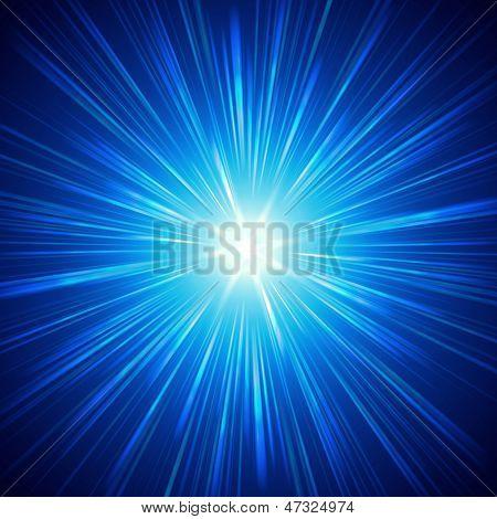 Glänzende Blaulicht