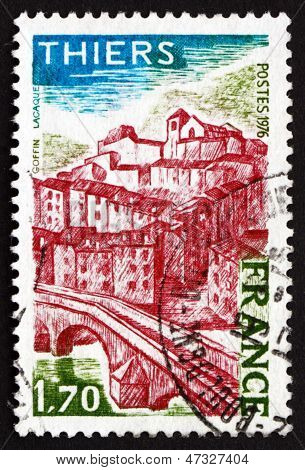 Postage Stamp France 1976 View Of Thiers, Puy-de-dome