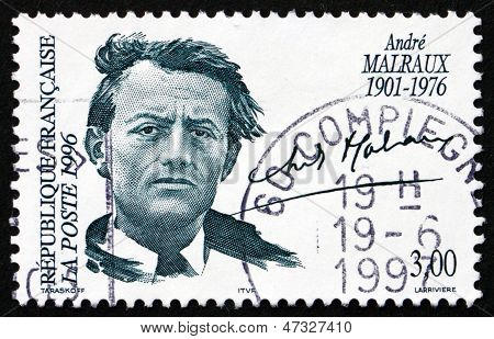 Postage Stamp France 1996 Andre Malraux, Writer
