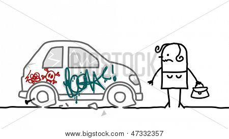 car vandalized