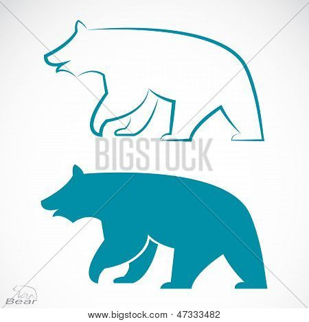 Vector image of an bear