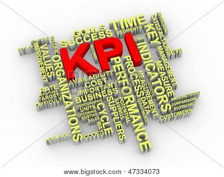 3D Kpi Word Tags
