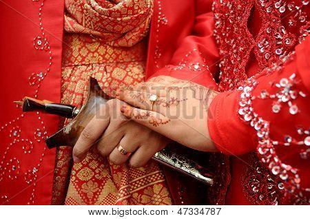 Malay tradicional do casamento