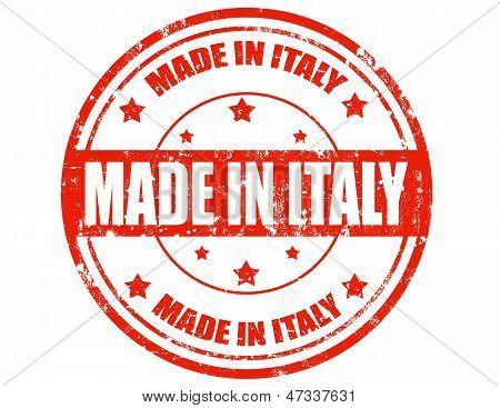 Made In Italien-Briefmarke