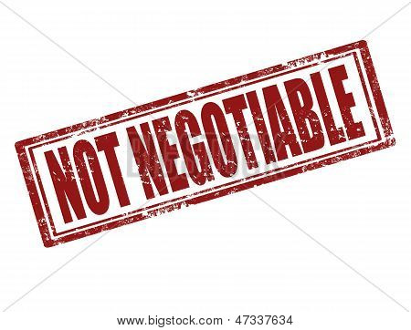 Not Negotiable-stamp