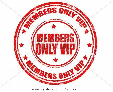 Members Only Vip-stamp