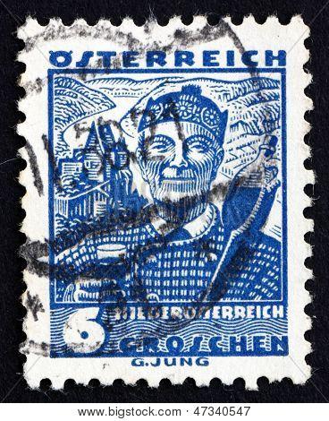 Postage Stamp Austria 1934 Man From Lower Austria