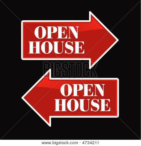 Open House Arrow Signs