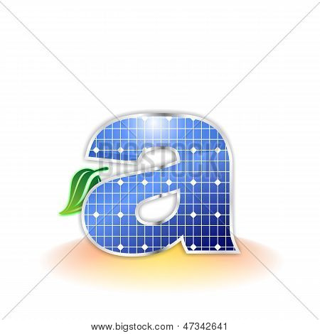 solar panels texture, alphabet lowercase letter a icon or symbol