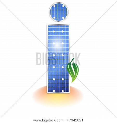 solar panels texture, alphabet capital letter I icon or symbol