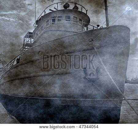 Spooky Old Fishing Boat