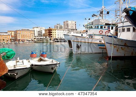 Fishing Boat In Port In Zadar, Croatia