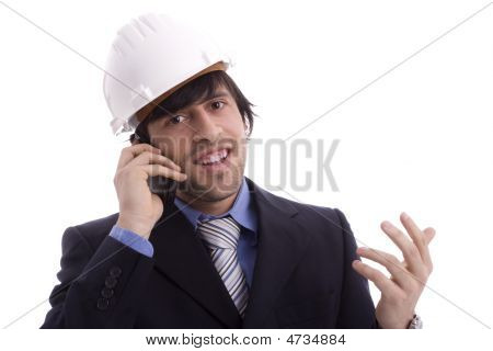 Business Man Talking On Cellphone