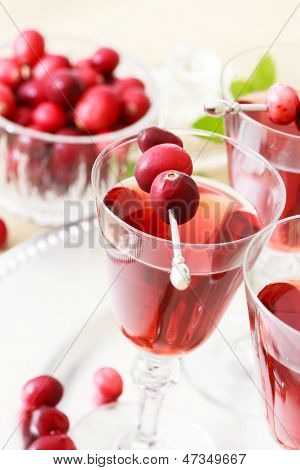 Cranberry Juice With Fresh Cranberries
