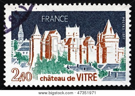 Postage Stamp France 1977 Chateau De Vitre, French Castle