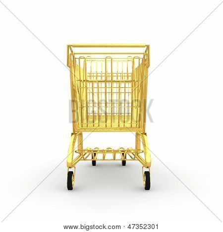Shopping cart made ??of gold