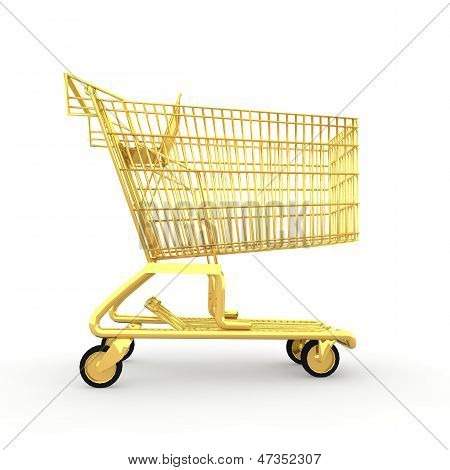 Shopping cart made of gold