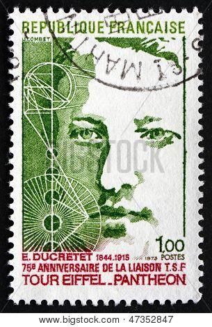 Postage Stamp France 1973 Shows Eugene Ducretet, Inventor