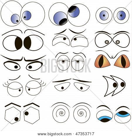 Cartoon Eyes Set