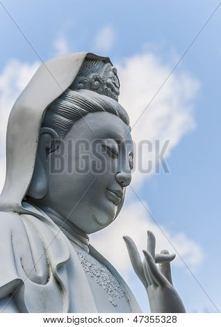 Buddha Against Blue Sky