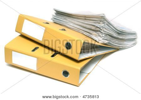Two Folders And Pack Of Documents