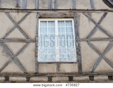 Window On A Timber-frame House