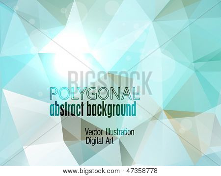 Abstract colorful polygonal background. Vector illustration