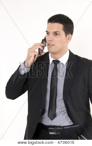 Businessman With Cellular Phone