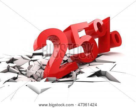 25 percent discount breaks ground