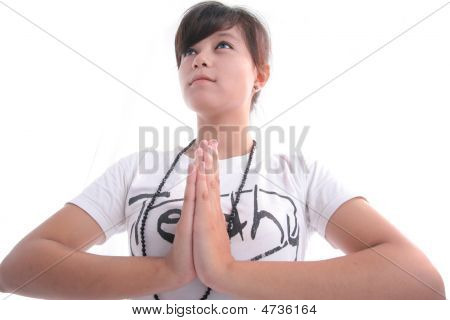 Yoga For Concentration On White Background