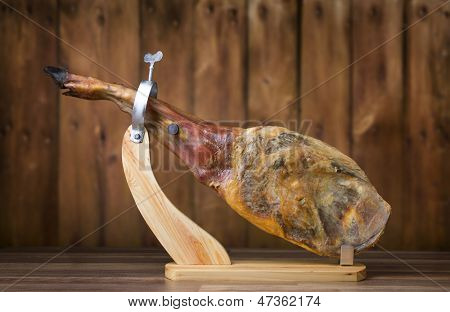 Full leg of Spanish jamon iberico