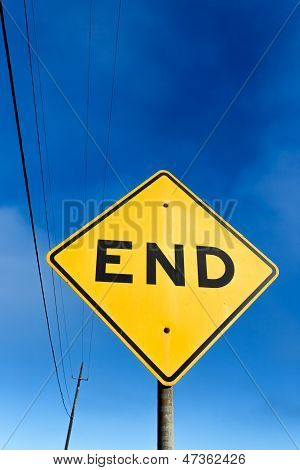 Road Sign Displaying End
