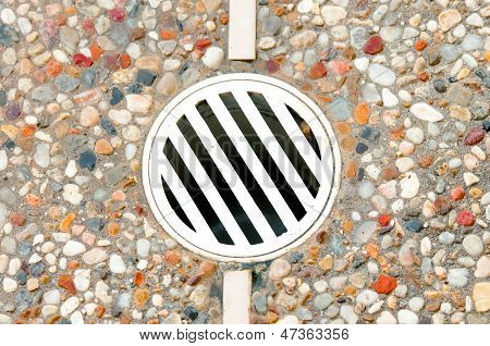 Outdoor Drain In Decking