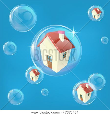 Housing Bubble Concept