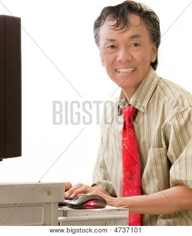 Mature Business Corporate Computer User