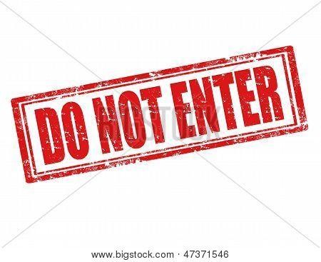 Do Not Enter-stamp