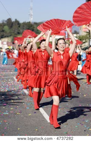 Chinese New Year Parade Fan Ladies