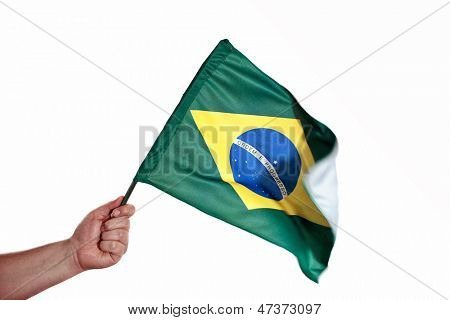 Photo of Waving brazilian flag