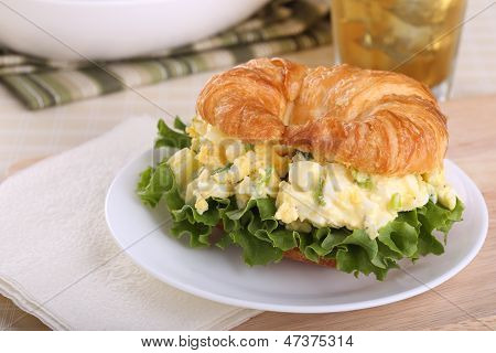 Egg Salad On Croissant Roll