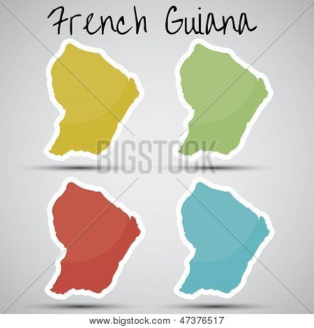stickers in form of French Guiana