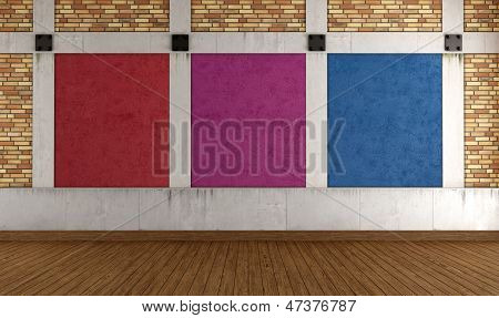 Colorful Empty Loft