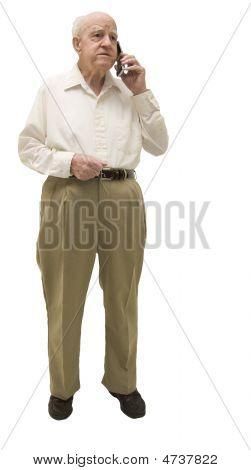 Senior On Cell Phone