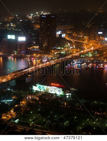 Night view of Cairo from Cairo tower