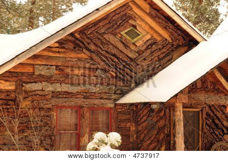 Rustic Wood Front Cabin