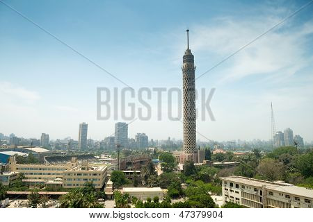 City view of Cairo tower in Egypt