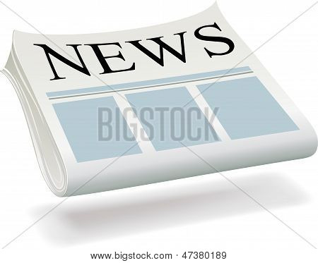 High-quality Computer Icon Newspaper On A White