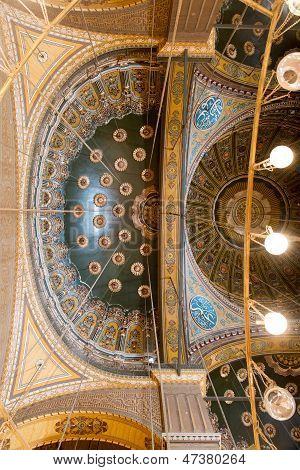 Ceiling view of the mosque of Muhammad Ali